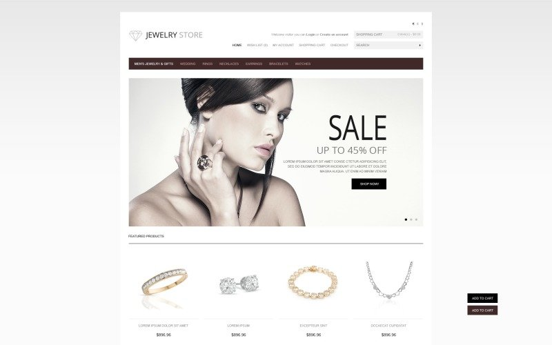 Jewelry & Watches OpenCart Template