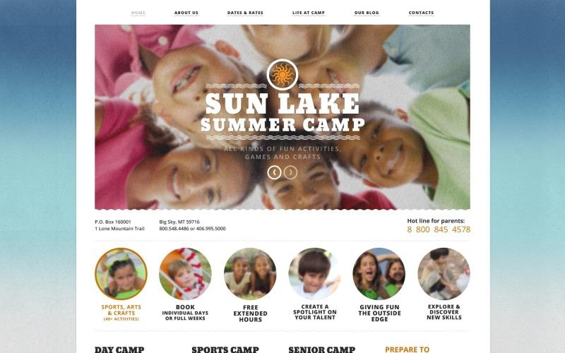 Summer Camp Joomla Template