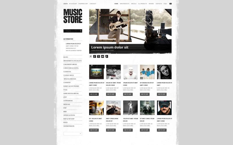 Muziekwinkel ZenCart-sjabloon