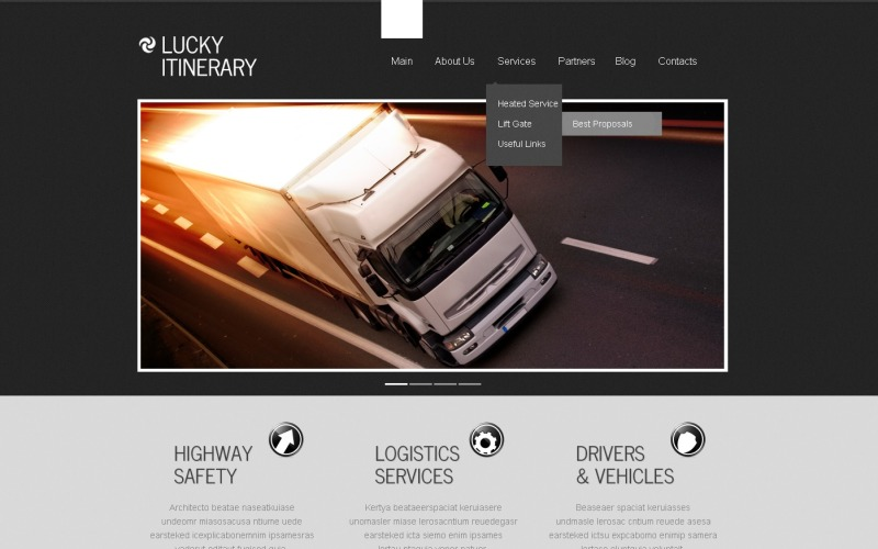 Trucking WordPress Theme