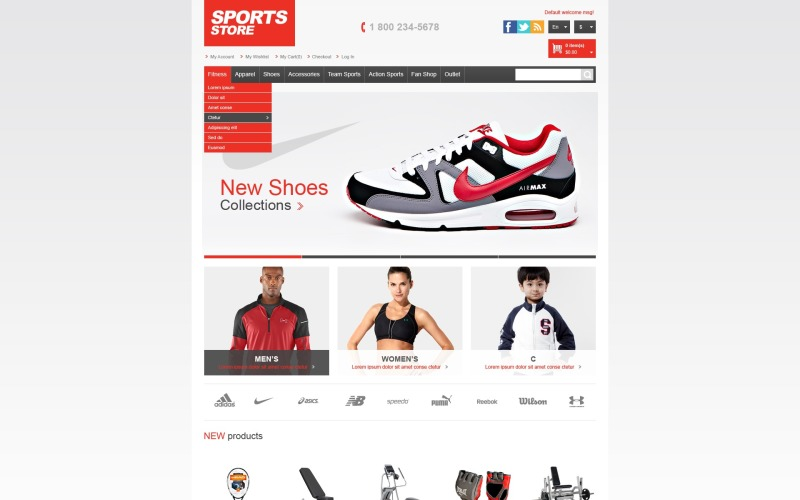 Athletic Store Magento Theme