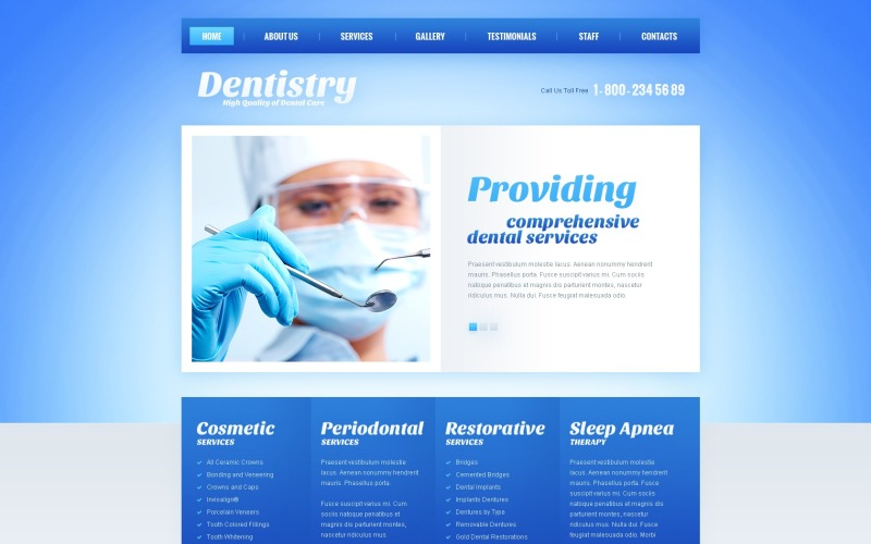 Dentistry Joomla Template