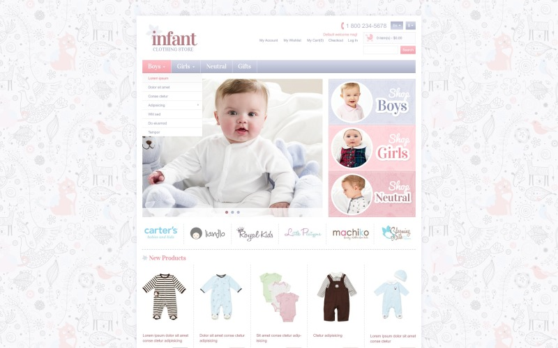 Infant Store Magento Theme