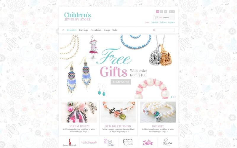 Childrens Jewelry PrestaShop Theme
