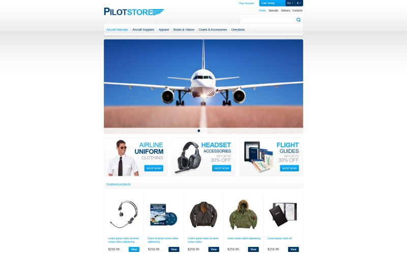 Pilot Store PrestaShop Theme