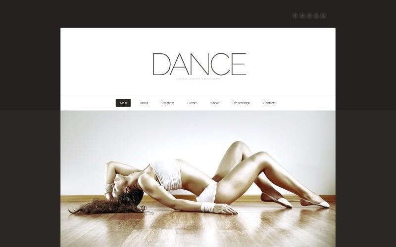 Szablon strony internetowej studia tańca