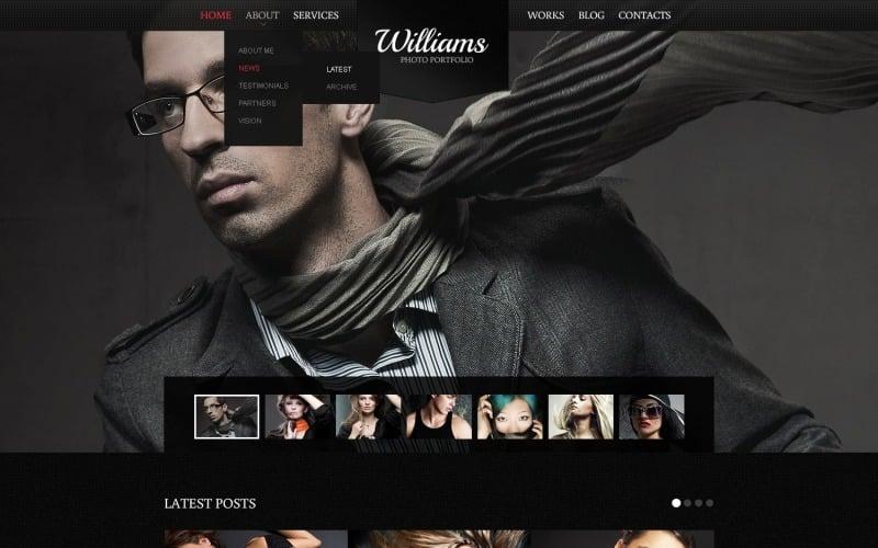 Black Photography Drupal Template