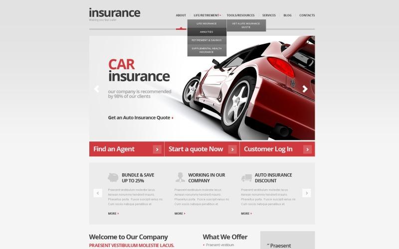 Grey Car Insurance WordPress Theme