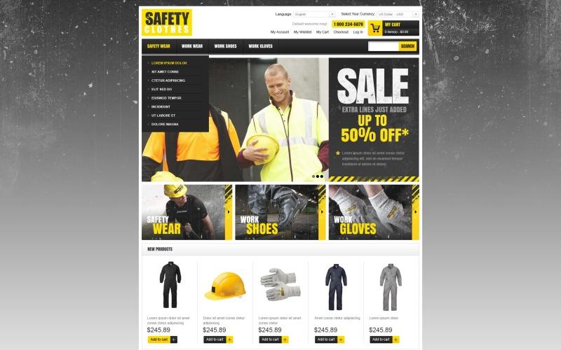 Safety Clothes Magento Theme