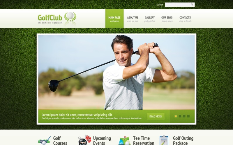 Golf Responsive Joomla Template