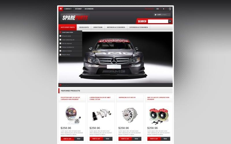 Responsive Spare Parts Store PrestaShop Theme