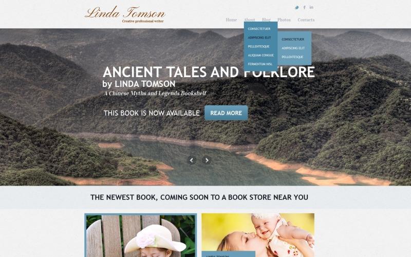 Writer Books Joomla Template