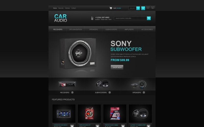 Tema Car Audio PrestaShop