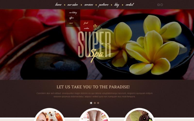 WordPress тема салону краси