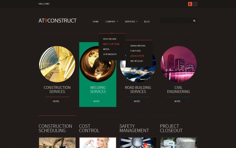Black Construction Joomla Template