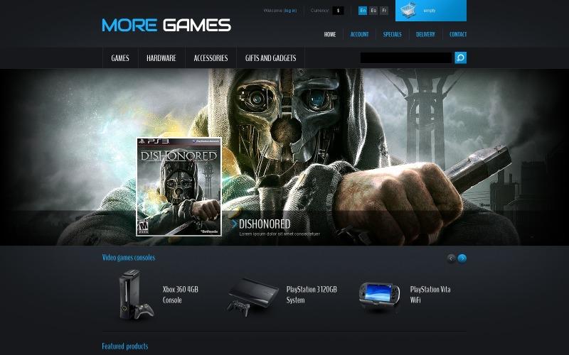 Games & Consoles PrestaShop Theme