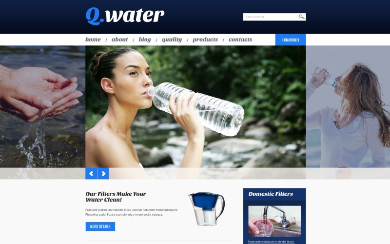 Water WordPress Theme