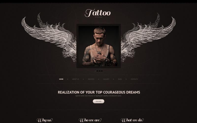 Black Tattoo Salon Joomla Template