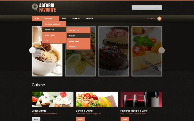 Black Cafe and Restaurant Joomla Template