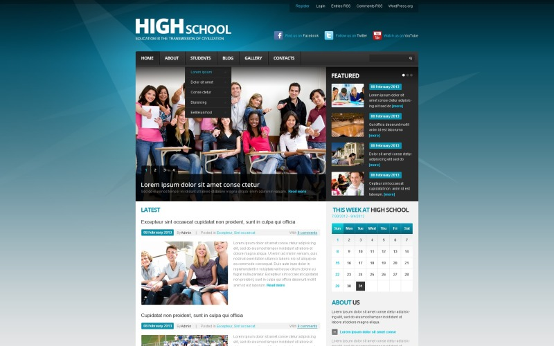 Education Institution WordPress Theme