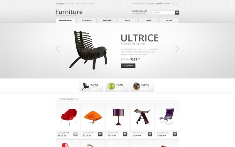 Futuristic Furniture OpenCart Template