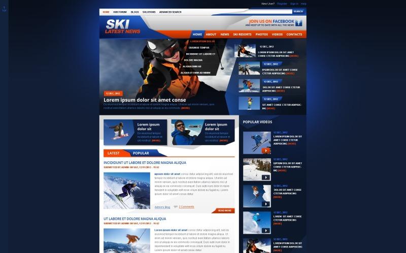 Modèle Drupal de ski sportif