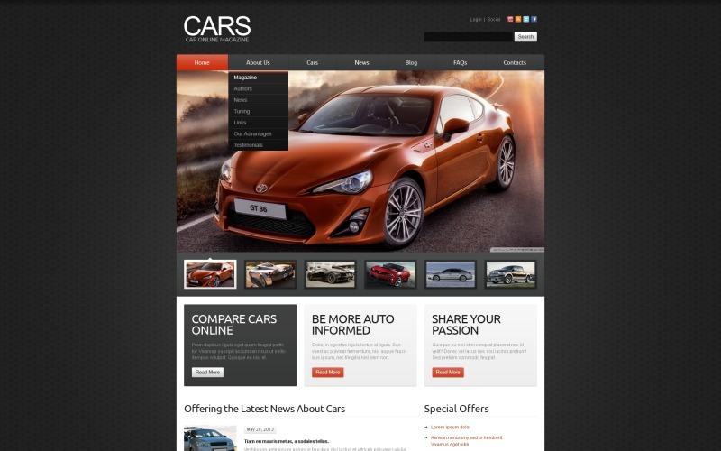 Black Cars Joomla Template