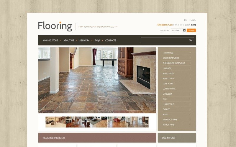 Flooring Store VirtueMart Template