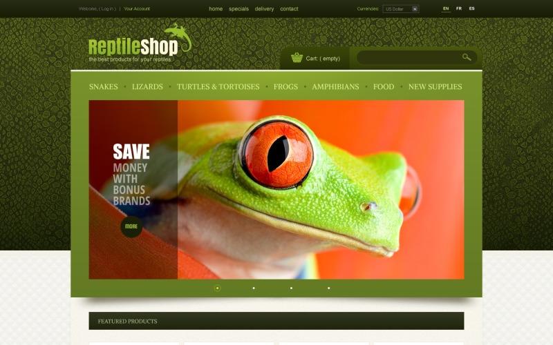 Reptile Shop PrestaShop Theme