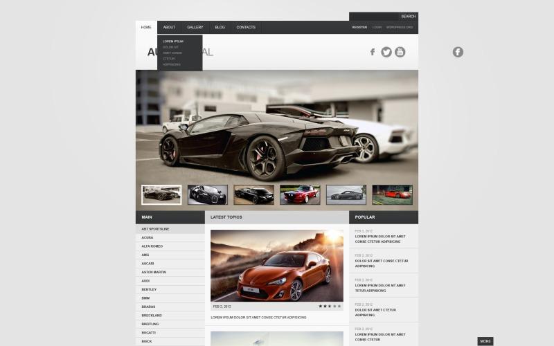 Gray Car WordPress Theme