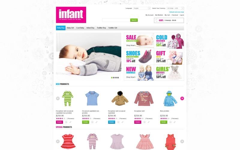 Infant Supplies Magento Theme