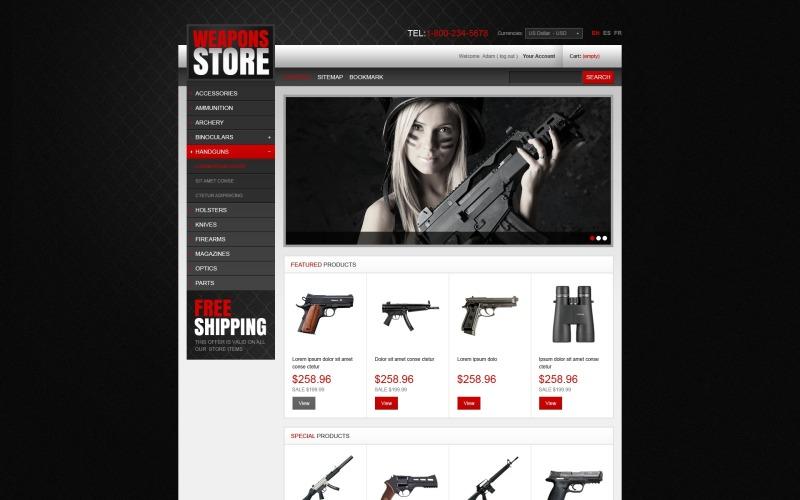 Weapons Store PrestaShop Theme