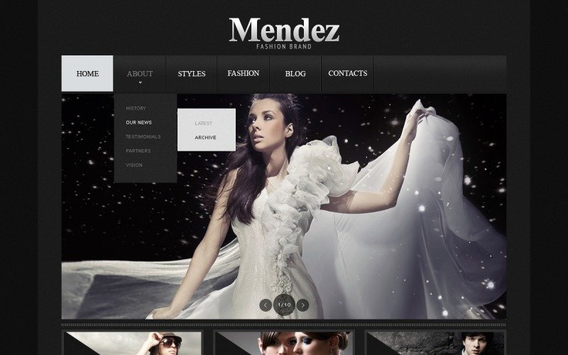 Apparel Website Template
