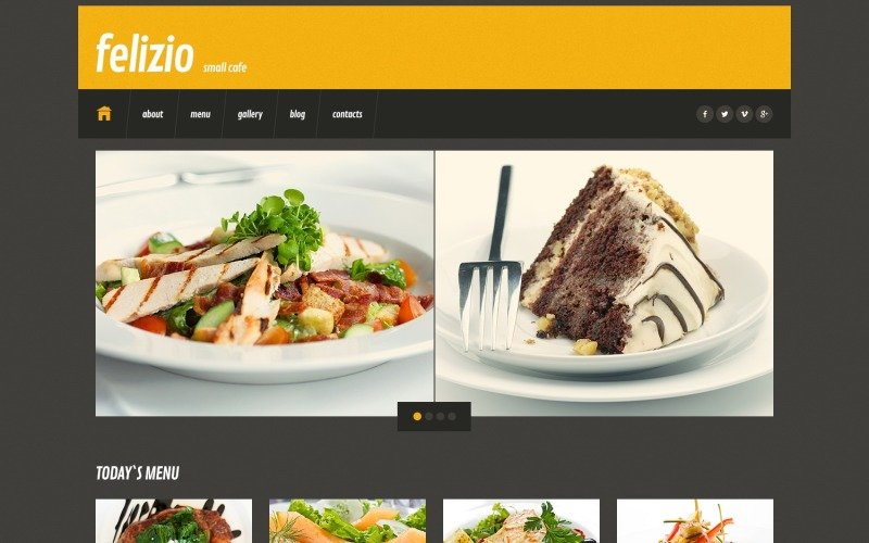 Black Cafe WordPress Theme