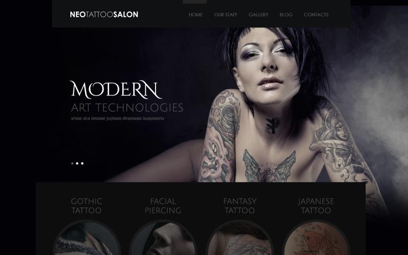 Responsywny motyw WordPress Salon tatuażu