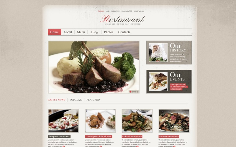 Cherry Cafe and Restaurant WordPress Theme