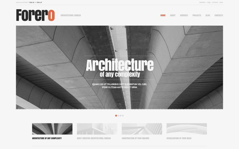 Cherry Architecture WordPress Theme