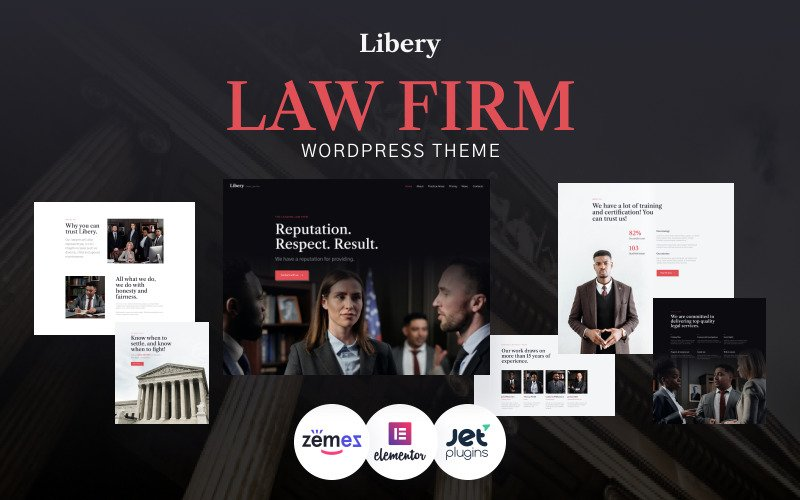Libery - Law Firm WordPress Theme