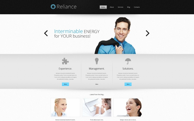 Outsourcing Company Responsive Website Template