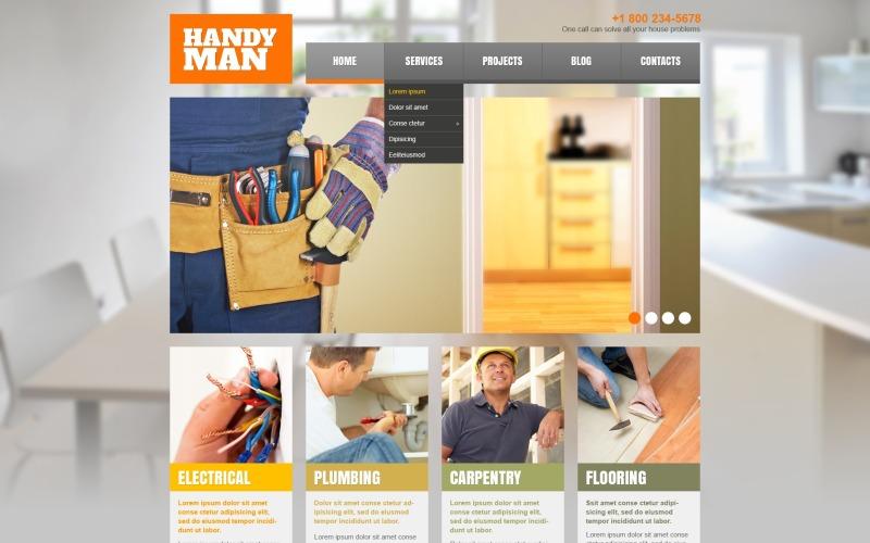 Адаптивная тема WordPress для ремонта дома