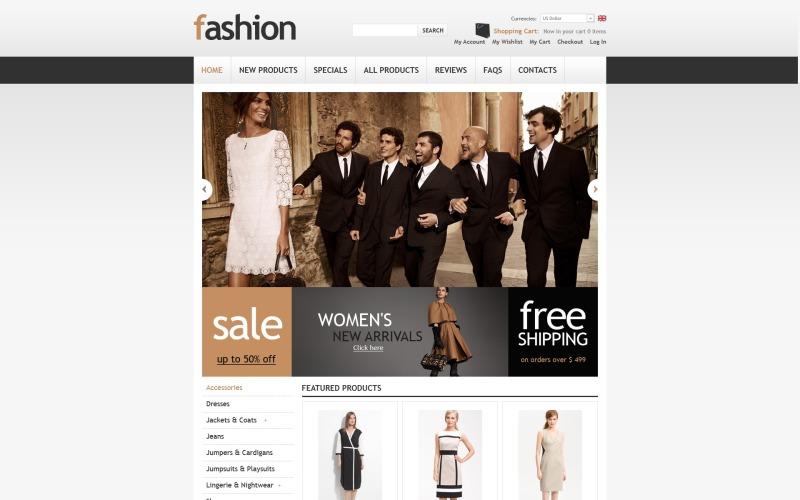 Stijlvolle Fashion Store ZenCart-sjabloon