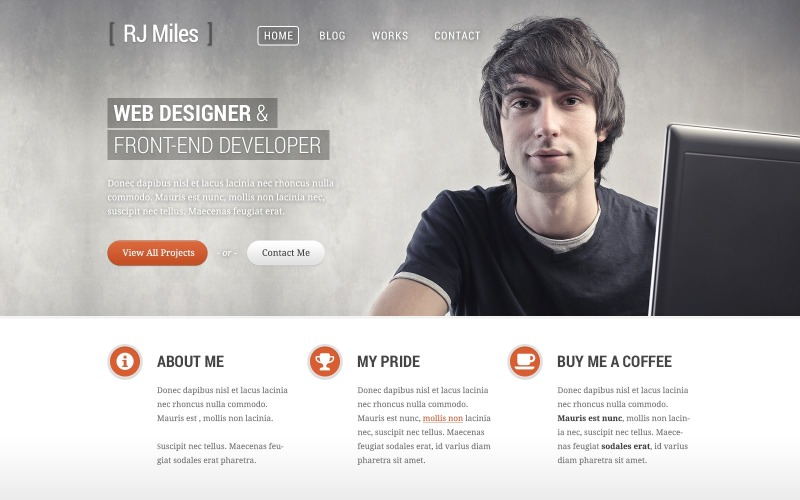 WordPress тема портфолио дизайнера