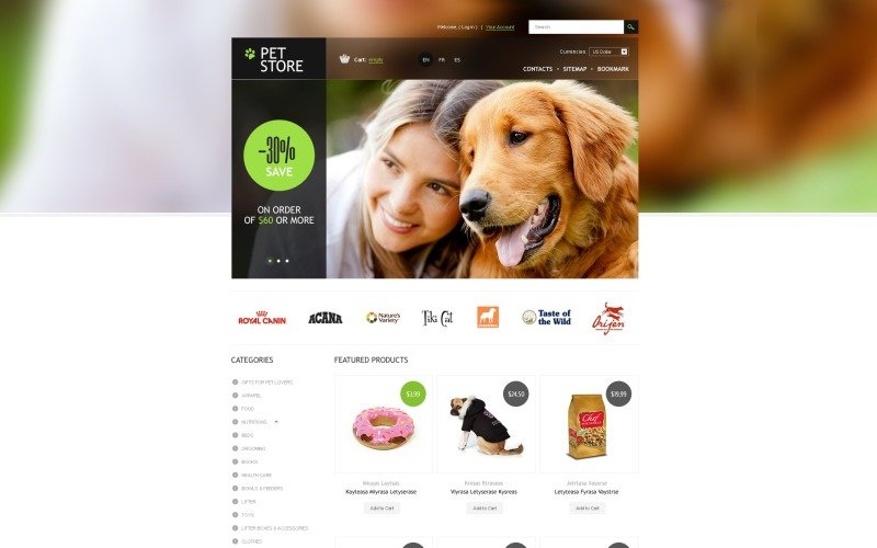 Pet Store PrestaShop Theme