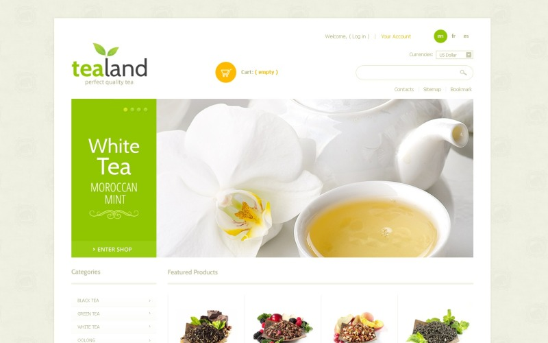Tea Land PrestaShop Theme