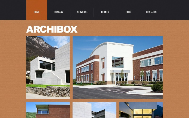 Skeuomorphism Architecture Joomla Template