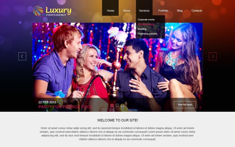 Luxury Event Planner Joomla Template