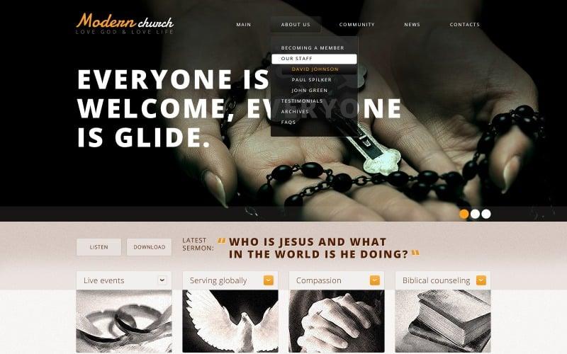 Religious Responsive Website Template