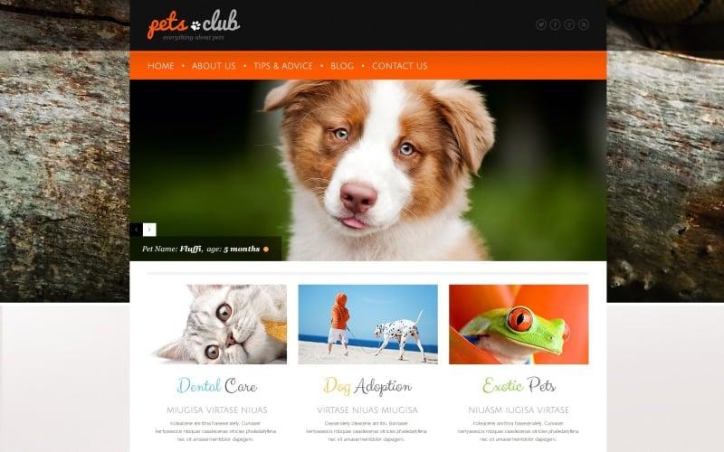 White Animals & Pets WordPress Theme