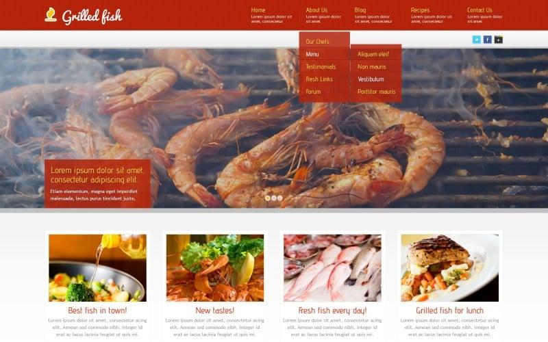 Red Seafood Restaurant WordPress Teması