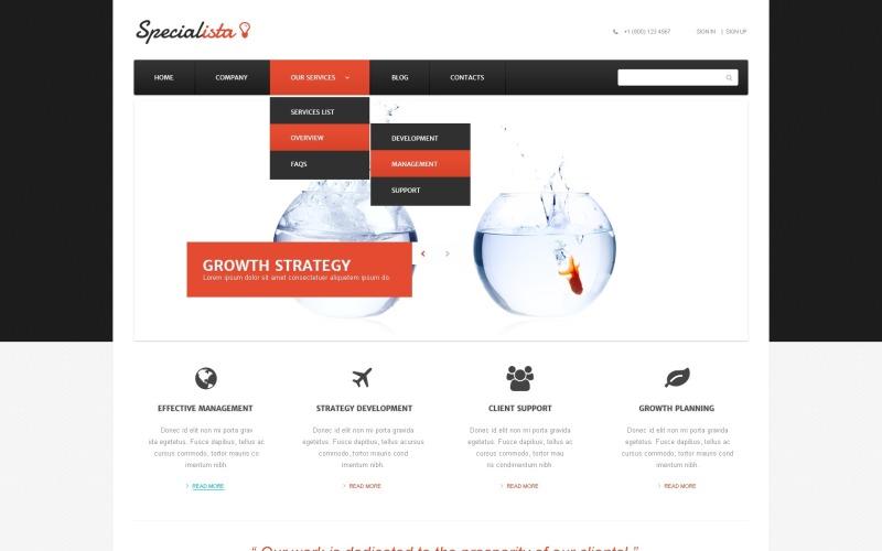 Tema WordPress Online de Gerenciamento Eficaz